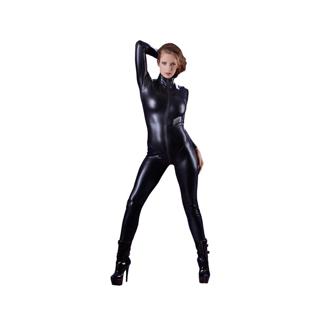Wetlook Catsuit Met Lange...